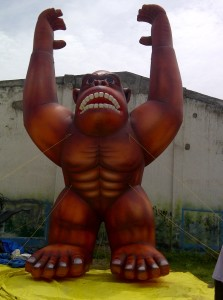 25 feet tall Kong-gorilla advertising inflatable